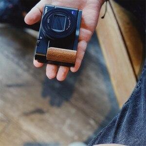 Image 5 - Holz Hand Grip Bracket Basis L Platte Für SONY RX100 VII RX100 M7 M6 RX DSC RX100