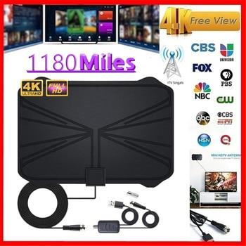 4K Digital HDTV Aerial Indoor Amplified Antenna 1180 Miles Range HD1080P DVBT2 Freeview TV HD Digital TV Antenna