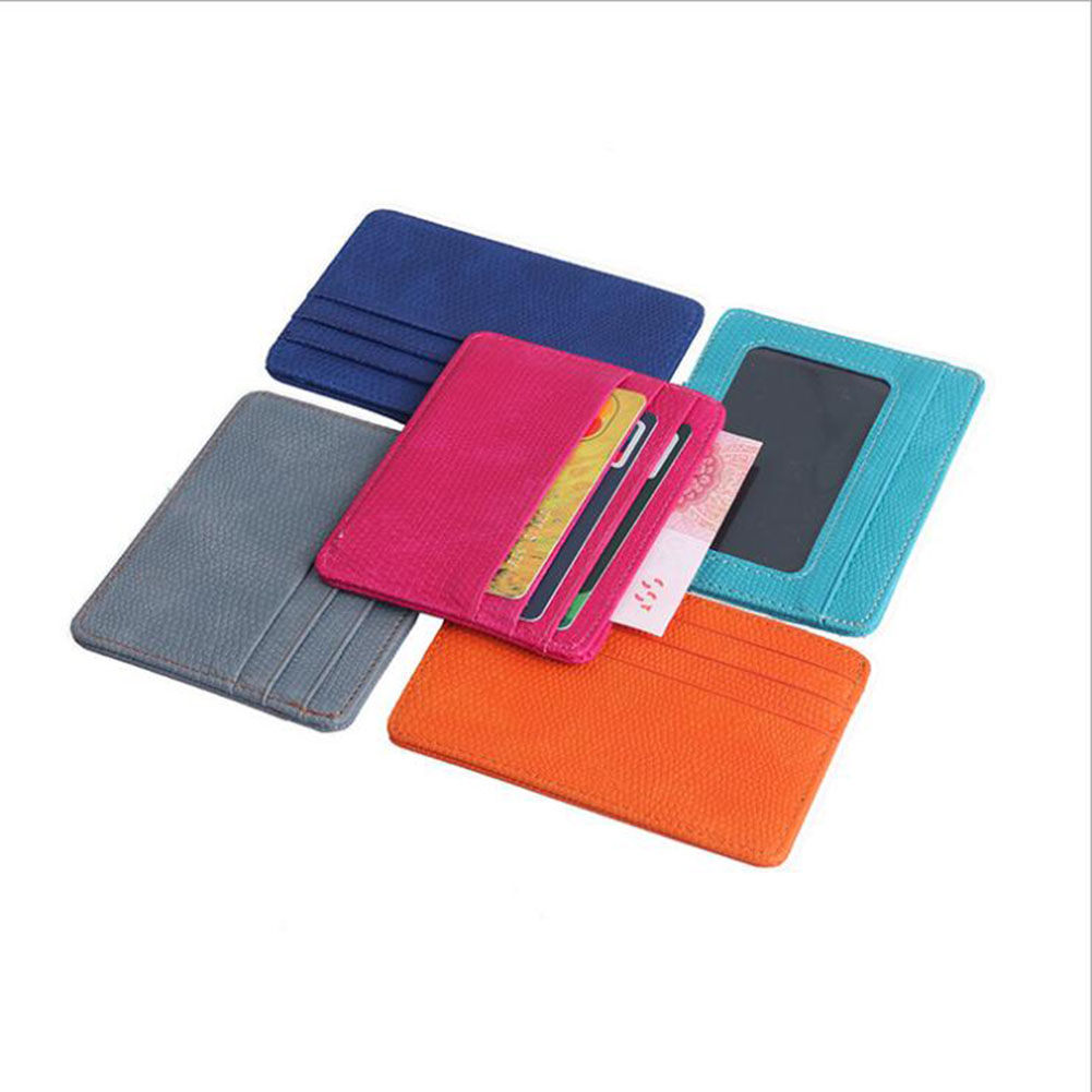 Women Men PU Leather Bank ID Card Wallet Holder Durable Slim Simple Travel Business Case With Purse Card Holder