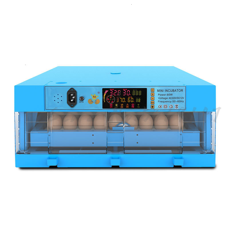 Mini Intelligent Egg Incubator China Chicken Duck Goose Seedling Incubadora Constant Temperature Thermostat for image