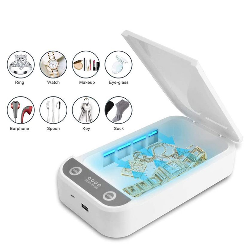 Phone Sanitizer UV Disinfection Box prevent influenza, flu, viruses Multifunctional sterilizer UV lamp toothbrush jewelry underw image
