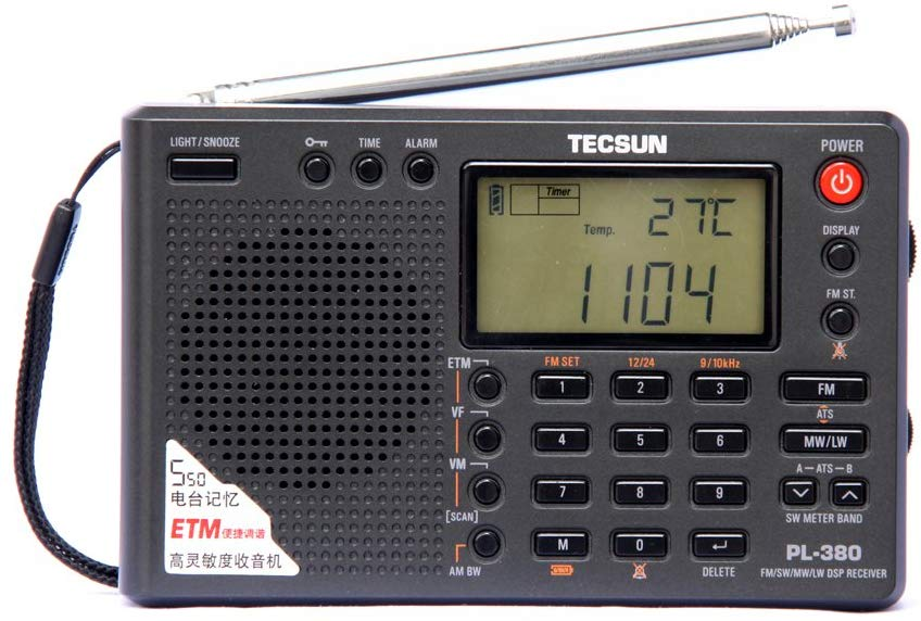 TECSUN PL-380 DSP FM Stereo. MW. SW. LW. World Band PLL Radio Receiver, LCD Display, ETM Function Added