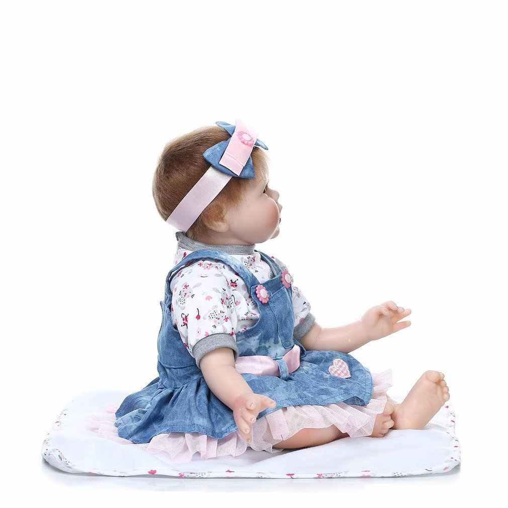 55 ซม.สมจริง Handmade ตุ๊กตา Reborn ไวนิลซิลิโคน adora เหมือนจริง Brinquedos เด็ก Bonecas Reborn ตุ๊กตาของเล่นตุ๊กตาสำหรับสาวของขวัญ