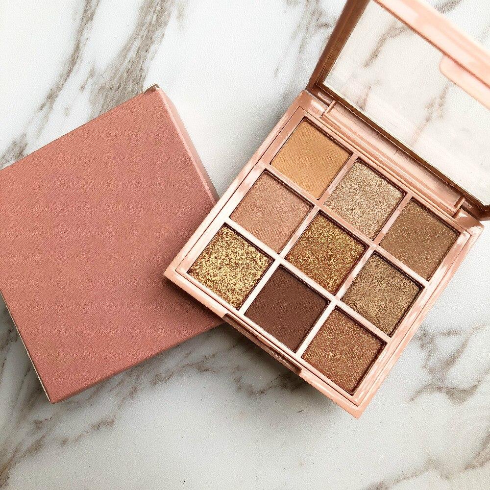 9 farbe Nude Creamy Pigmentierte Professionelle Mini Schatten Kit Lidschatten-palette Make-Up Kosmetik Diamant Glitter Metallic