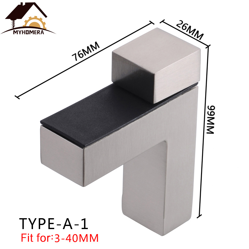Myhomera Large Glass Clamps F Clamp Shelves Holder Corner Bracket Zinc Alloy Adjustable Glass Shelf Clips Strong Support