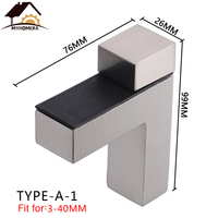 Myhomera Large Glass Clamps F Clamp Shelves Holder Corner Bracket Zinc Alloy Adjustable Glass Shelf Clips Strong Support|Glass Clamps| |  -