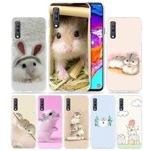 Hamster sevimli hayvan Samsung Galaxy A50 A70 A20 A90 5G A80 A60 A40 A30 S A10 E a8 A6 + A9 A7 2018 sert telefon Coque kapak