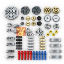 Технология Запчасти Шестерни Крест оси Pin комплект мс друзей, строительные блоки аксессуары механический DIY автомобиль оптом совместимые игрушки