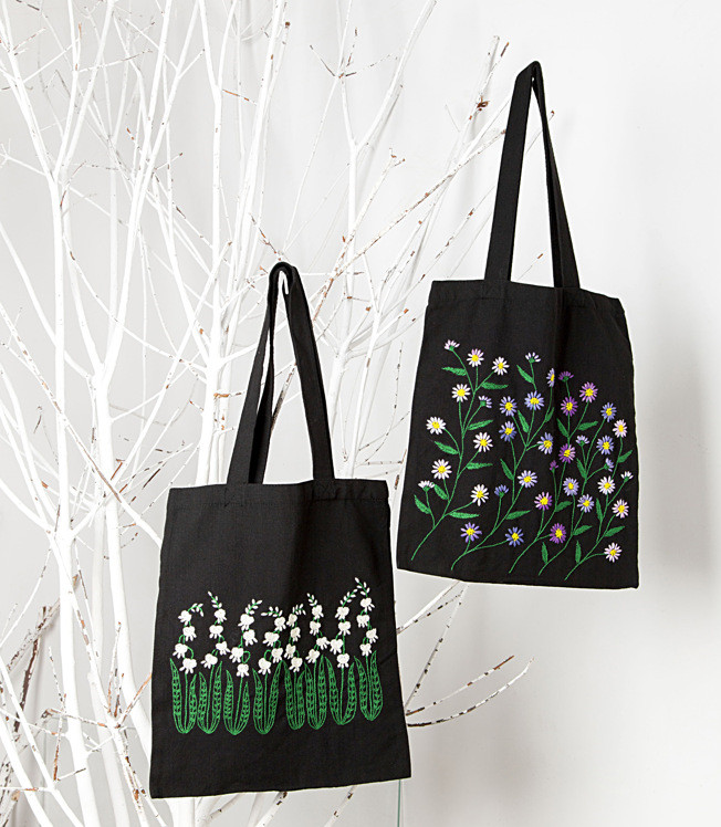 Canvas Bag Embroidery DIY Students Bag Shoulder Adult Manual Beginners Material Embroidery Killing Time