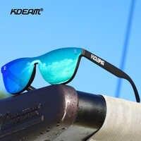 KDEAM, gafas de sol de diseño frente completo para mujer, gafas de sol polarizadas TR90 Marco de vanguardia, gafas de sol de conducción, mujer de gafas de sol