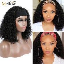 Malaysian Jerry Curly Short Bob Headband Human Hair Wig Pre Plucked For Black Women Glueless Deep Wave Frontal Wig