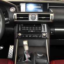 For Lexus IS250 300H Carbon Fiber Car Center Console CD Panel Stickers Decoration Auto Interior Styling Accessories