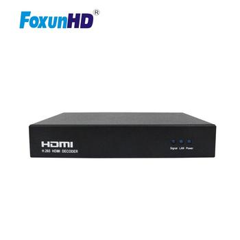 H.265 HD HDMI Decoder for IP TV Support RTSP/HTTP TS/HTTP FLV/RTMP/UDP Input and HTTP PTE Decoding Protocols HDMI Audio Decoder