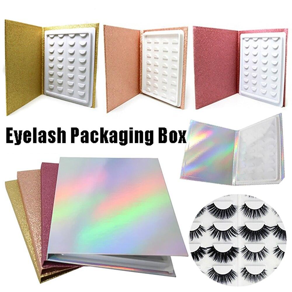caixa par reutilizavel 16 livro forma 3d visor de cartao de cilios cilios falsos catalogo da