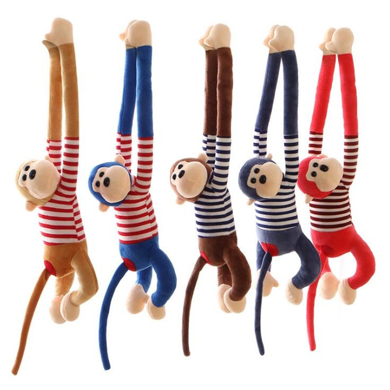Soft Cartoon Long Arm Monkey Plush Toys Stuffed Animals  Comfort Playmate Kids Toys Creative Christmas Birthday Gifts