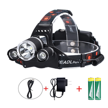 3 Led Headlamp Headlight Light Lantern Head Lamp Flashlight Zoomable Rechargeable 18650 Battery for Fishing Hiking powerful 12000 lumen 3 cree xml l2 headlamp headlight head lamp light flashlight rechargeable lantern fishing hunting lights