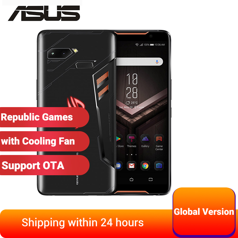 Smartphone internacional do jogo do telefone zs600kl de asus rog 6