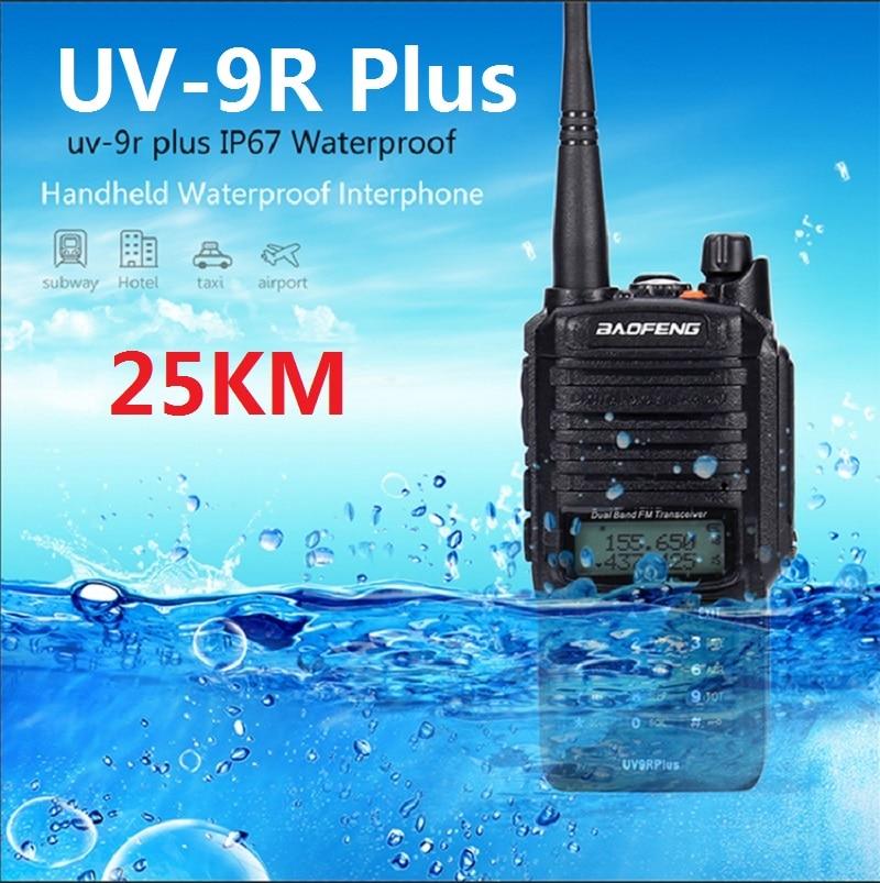 Long Rang Walkie Talkie Baofeng UV 9R Plus Upgrade Version Uv-9r Cb Radio Comunicador Waterproof Walkie Talkie Uv-9r Plus рация