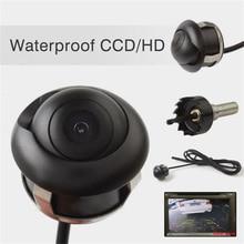 Caméra de recul HD CCD pour voiture, 360 degrés, Vision nocturne, aide au stationnement, étanche IP67, filaire, pour véhicule