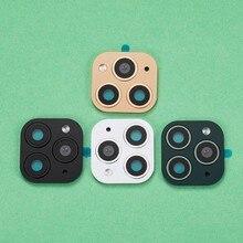 Filme protetor da lente da câmera 50 peças, para iphone x xs max parece para iphone 11 pro câmera falsa adesivo
