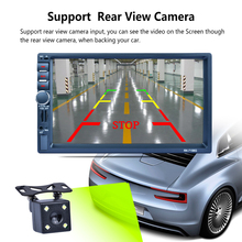 Dual Fixed U Disk MP3 with Rear View Bluetooth 7 inch 2 Din touch screen Bluetooth GPS Car Mp5 AM FM AUX Mirror link-186963
