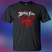 New Motley Crue Heavy Metal Band Legend Logo Mens Black T-Shirt Size S-3XL Sleeve Tops T shirt Homme Top Tee