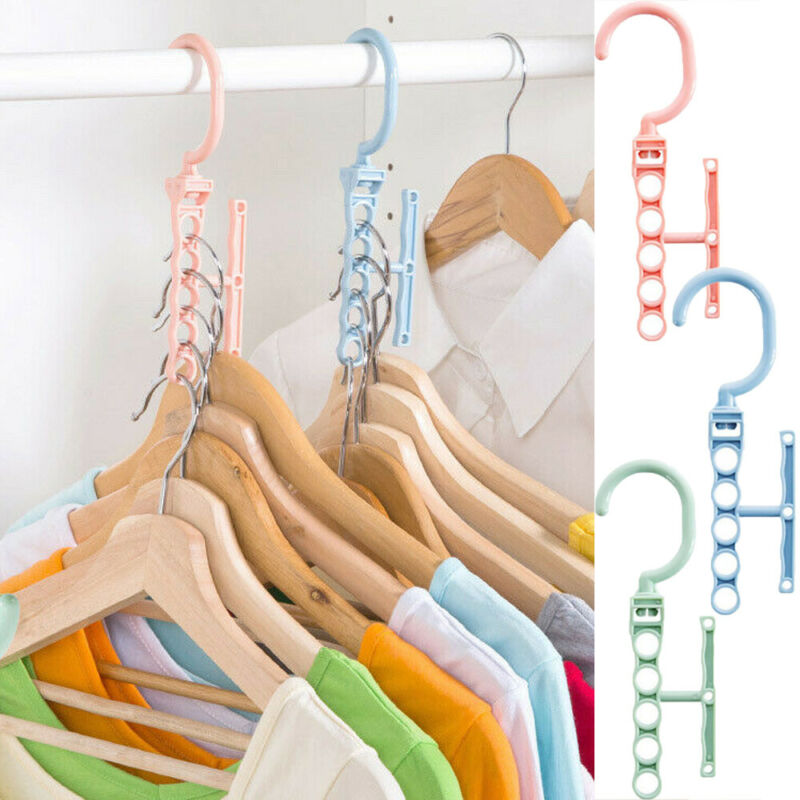 2020 Space Saving Magic Clothes Hanger Hanging Chain Plastic Hook Closet Organizer Function Clothes Drying Rack Storage Shelves
