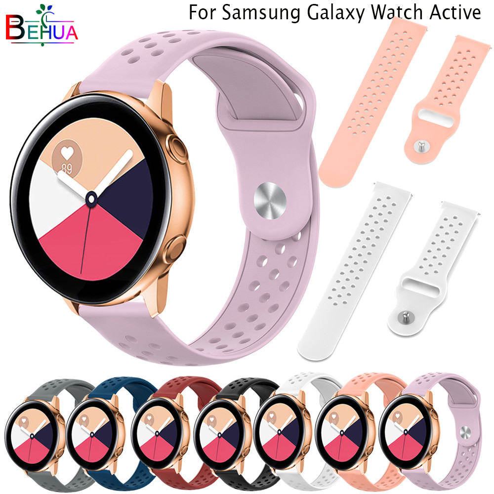 20MM Silicone Original sport watch band For Galaxy watch active smartwatch Replacement Watchstrap For Huami <font><b>Amazfit</b></font> GTR 42mm/GTS image