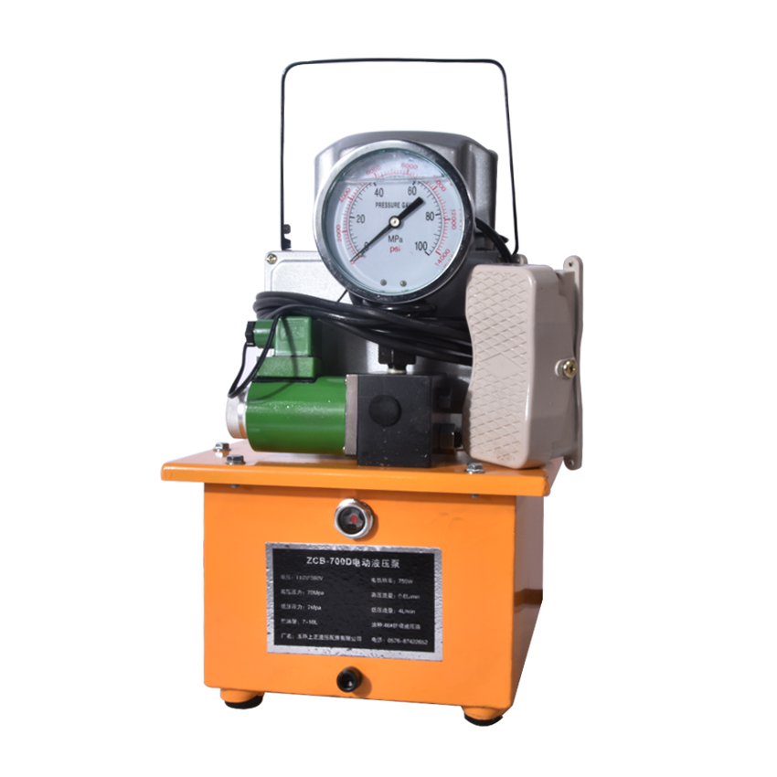 Hydraulic Electric Pump ZCB-700D 7L(Support Customize) 220v/380v Optional,750W 70Mpa Low Pressure 5L/min,High Pressure 0.9L/min