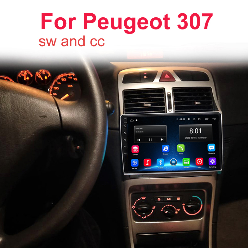Android 9.1 2.5D IPS Screen <font><b>Car</b></font> DVD Video Player GPS Navigation Multimedia For <font><b>peugeot</b></font> <font><b>307</b></font> <font><b>Radio</b></font> 2004 2005 2006-2010 2011 2013 image