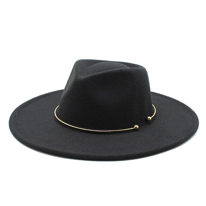 2021 Fashion Trend Men Women Vintage Wide Brim Fedora Hat Felt wdeding Jazz Cap Panama Cap British Retro Woollen Headwear