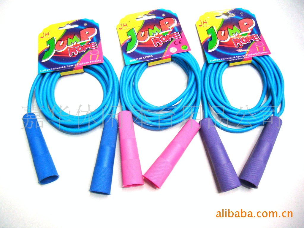 [Wang Jiahua Food] Yiwu Manufacturers Exercise Body Jump Rope Hanging Card Rubber Jump Rope Wholesale