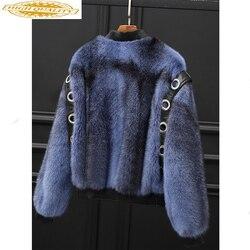 Real Mink Fur Coat Female Luxury Natural Fur Jacke 2019 Winter Jacket Women Korean Jackes for Women Warm Ourwear MY4050