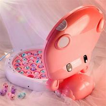 Children Hippo Fishing Toys Music Lighting Maglev Track Fishing Toy Suit Parent-child Interactive Education Study Toy Game Gifts