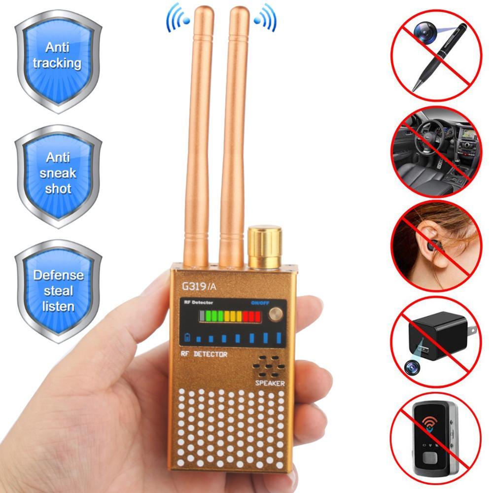 Dual Antenna RF Signal Detector Anti Spy Bug Detector Anti-eavesdropping Audio Bug GPS GSM Device Finder