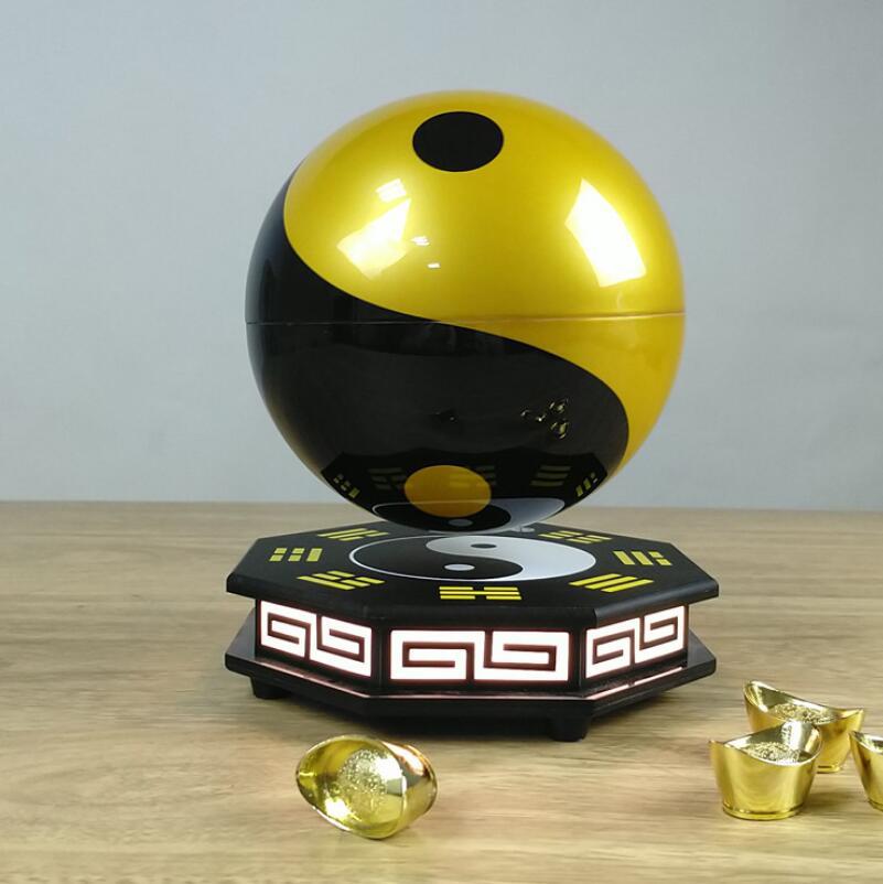Automatic rotation Gossip 3D Magnetic Levitation Colorful Globe Lamp Night Light Rotating Led Globe Floating Lamp Decoration