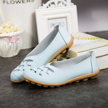 High Quality Women Flats Casual Loafers Shoes Woman Genuine Cow Leather Shoes Ladies Fashion Slip-on Non-slip Female Sneakers beau genuine cow leather loafer shoes women new fashion bowknot fur wool lining slip on casual flats 27807
