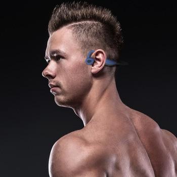 New IP68 Waterproof MP3 Bone Bluetooth 5.0 Conduction Headset 16G HIFI MP3 Player Outdoor Sport Earphones USB MP3 Music Players
