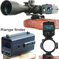 Outdoor 6-700m mini aiming OLED screen display laser automatic rangefinder 20mm wave rail mount hunting optics riflescope parts
