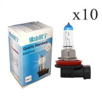 цена на 10Pcs H8 12V 35W Auto headlamp halogen fog bulbs  Super Bright Fog Lights Halogen Bulb High Power Car Headlight Lamp White Light