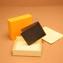 Wysokiej jakości męski składany portfel duży banknot etui na karty kredytowe główny projektant mody wiosna portfel z pudełkiem 60895 tanie tanio PRAWDZIWA SKÓRA Skóra bydlęca CN (pochodzenie) Genuine Leather 1 5cm Floral Klipsy do banknotów 11 5cm