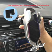 Smart Sensor Wireless Car Charger Mount Automatic Clamping 10W Fast Charging for iPhone Samsung SP99 kjmy002 s01 smart 10w wireless fast charging car air purifier