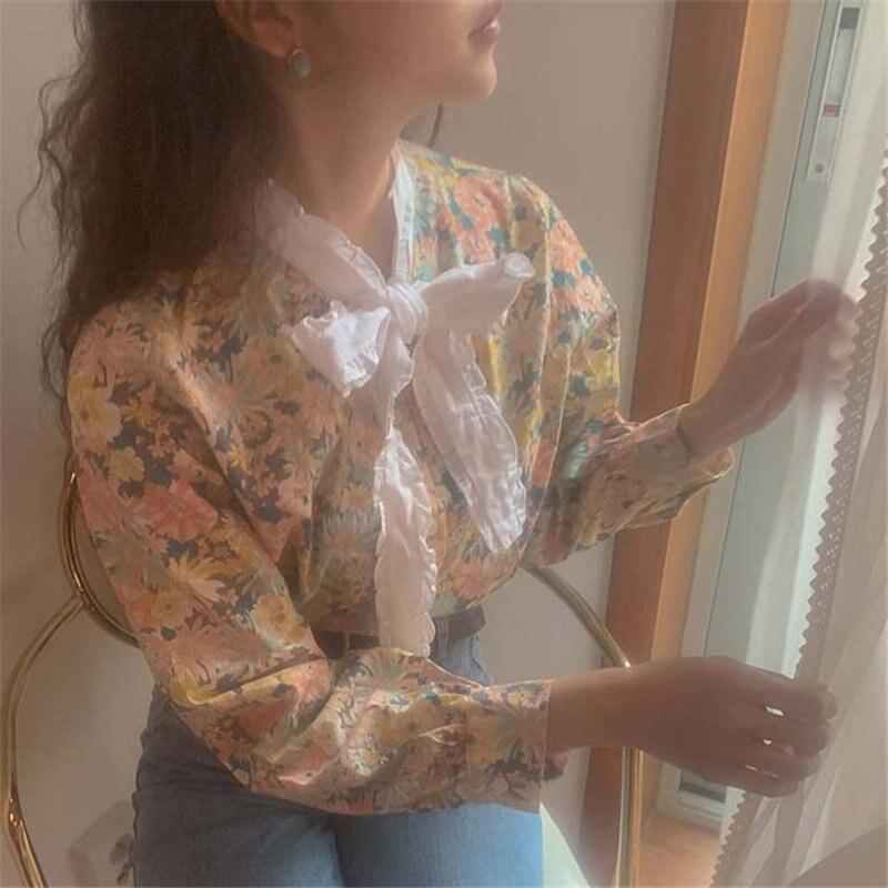 Alien Kitty Women Blouses Retro Office Lady Ruffles Lace-Up 2020 High Street Fresh Vintage Elegant Girls Shirts Female Chic Tops