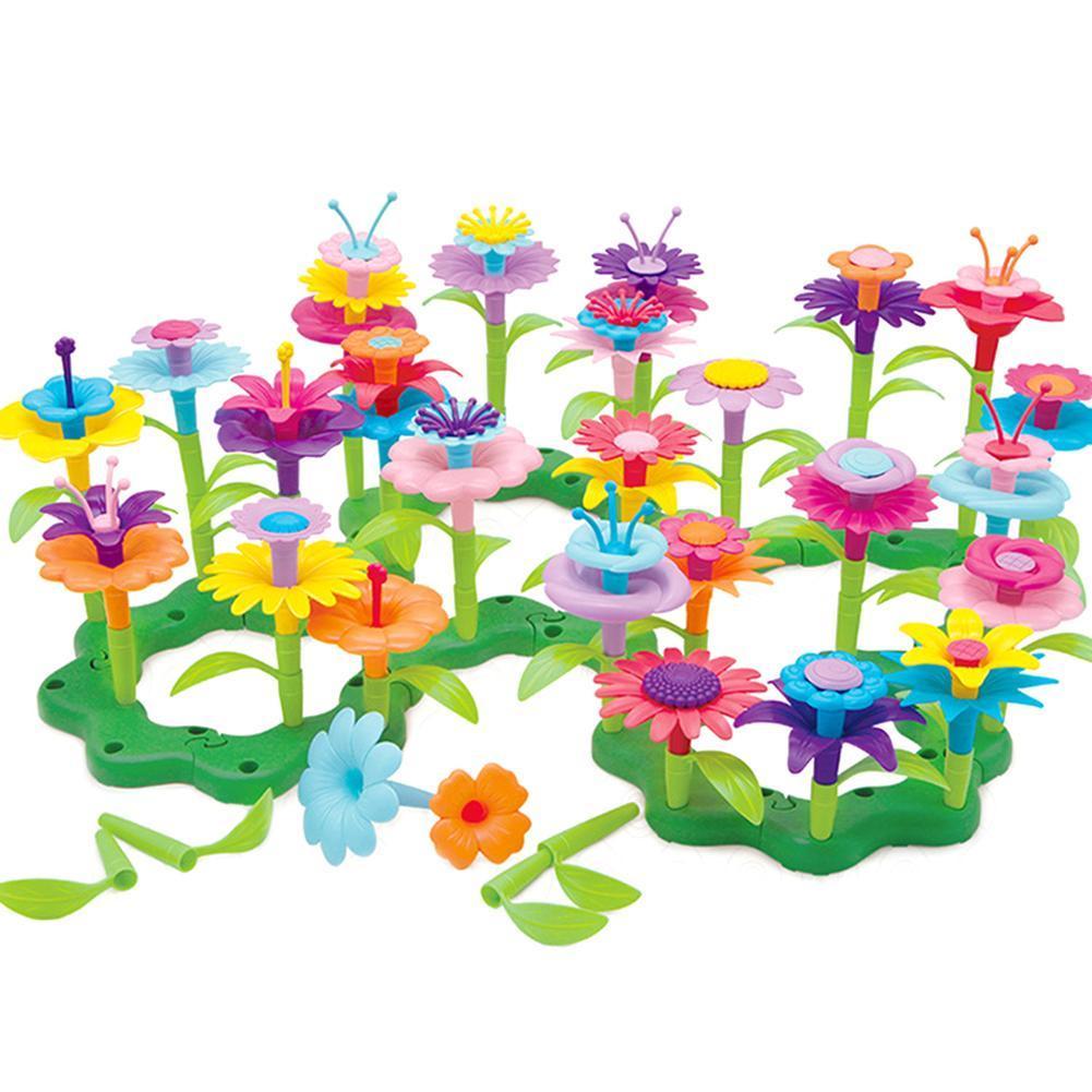 46Pcs/Set DIY Colorful Flower Garden Building Blocks Developmental Kids Toy