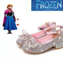 Новинка года; сезон осень; обувь Анны; кристалл для девушки; обувь принцессы на высоком каблуке; обувь Эльзы для девочек; сезон весна
