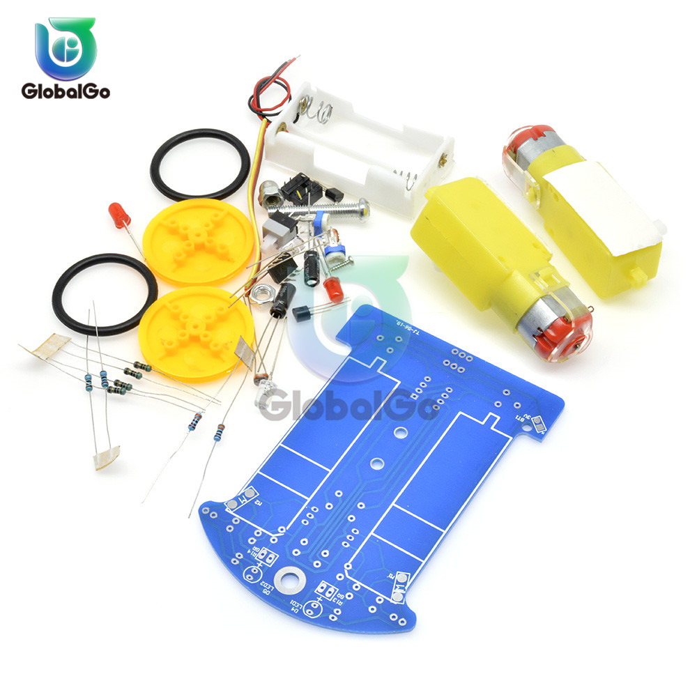 Image 4 - D2 1 DIY Kit Intelligent Tracking Line Smart Car Kit TT Motor Electronic DIY Kit Smart Patrol Automobile Parts For Baby-in Instrument Parts & Accessories from Tools