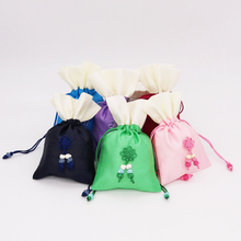 50pcs 10x15cm Stain Drawstring Bag with Ribbon Rope for Jewelry Hair Travel Watch Shoes Diamond Bead Ring Makeup Gift Packaging