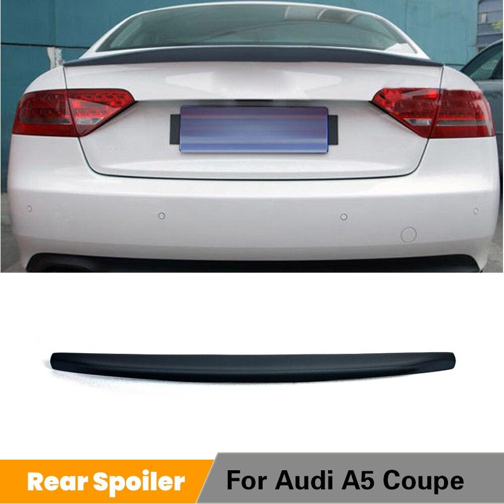 Audi için A5 Coupe 2 Kapı Standart 2009-2015 Arka Bagaj Boot Spoyler Dudak Arka Kanat PU Gri/ siyah