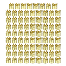 Ring Hair-Extension Braid Jewelry Beaded And Gold 50PCS Crown Embossed Chemical-Fiber