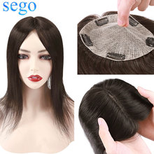 Topper-Hairpieces Hair-Remy-Wig Toupee Silk-Base Human-Hair SEGO Women 100%Natural-Machine